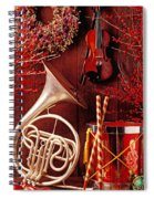French Horn Christmas Still Life Spiral Notebook