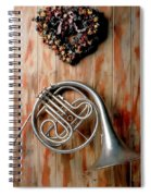 French Horn Hanging On Wall Spiral Notebook
