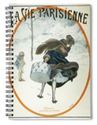French Magazine Cover Spiral Notebook