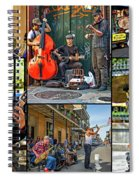 French Quarter Musicians Collage Spiral Notebook