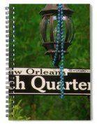 French Quarter Sign Spiral Notebook