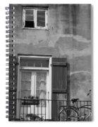French Quarter Window Spiral Notebook