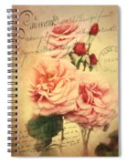 French Rose Bouquet Spiral Notebook