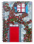French Stone House And Rose Trellis Spiral Notebook