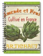 French Vegetable Sign 2 Spiral Notebook