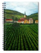 French Village In The Vineyards Spiral Notebook