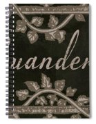 French Vintage Laundry Sign Spiral Notebook