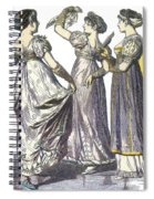 French Womens Fashion, 1808-09 Spiral Notebook