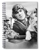 French World War Two Postcard Celebrating The British Bulldog As A Mascot For The Royal Air Force Spiral Notebook