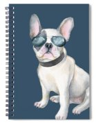 Frenchie French Bulldog Aviators Dogs In Clothes Spiral Notebook