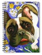 Frenchie Plays With Frogs Spiral Notebook