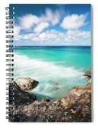 Frenchmans Beach On Stradbroke Island, Queensland. Spiral Notebook