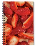 Fresh Cut Strawberries Spiral Notebook