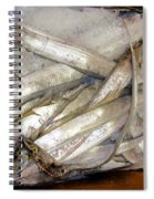 Fresh Fishes In A Market 3 Spiral Notebook