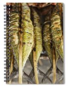 Fresh Grilled Asian Fish In Kep Market Cambodia Spiral Notebook