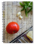 Fresh Italian Cooking Ingredients On Tile Spiral Notebook