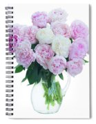 Vase Of Peonies Spiral Notebook