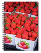 Fresh Picked Strawberries Spiral Notebook