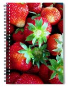 Fresh Ripe Perfect Strawberry Spiral Notebook