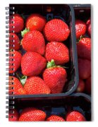 Fresh Ripe Strawberries In Plastic Boxes Spiral Notebook