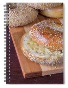 Fresh Sesame Bagel Spiral Notebook