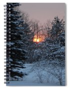 Fresh Snow At Sunrise Spiral Notebook