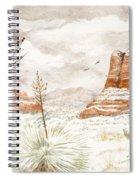 Fresh Snow On Bell Rock Spiral Notebook