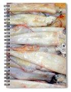 Fresh Squid On A Market Stall Spiral Notebook