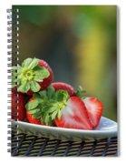 Fresh Strawberries Spiral Notebook
