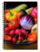 Fresh Vegetables In Lovely Basket Spiral Notebook