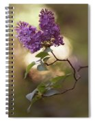 Fresh Violet Lilac Flowers Spiral Notebook