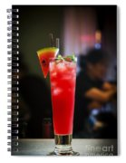 Fresh Watermelon Juice And Vodka Cocktail Drink Spiral Notebook