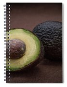 Fresh Whole And Half Avocado Spiral Notebook