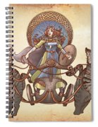 Freya Driving Her Cat Chariot - Triptic Garbed Version Spiral Notebook