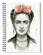 Frida Kahlo Portrait Spiral Notebook