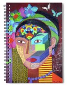Frida Whit Floers Spiral Notebook