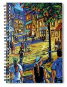 Friday Night Walk Prankearts Fine Arts Spiral Notebook