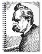 Friedrich Nietzsche Spiral Notebook