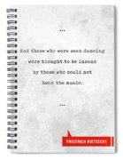 Friedrich Nietzsche Quotes - Literary Quotes - Book Lover Gifts - Typewriter Quotes Spiral Notebook