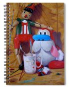 Friends 2  -  Pinocchio And Stimpy   Spiral Notebook