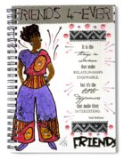 Friends 4ever Spiral Notebook