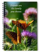 Friends Are Family Spiral Notebook