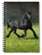 Friesian Power Spiral Notebook