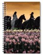 Friesians At Sunset Spiral Notebook