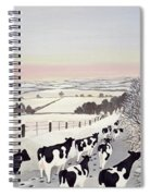 Friesians In Winter Spiral Notebook