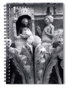 Frieze Work In Black And White  Spiral Notebook