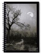 Frigid Moonlit Night Spiral Notebook