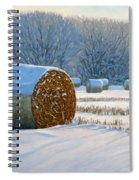 Frigid Morning Bales Spiral Notebook