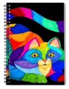Frisky Cat Spiral Notebook