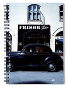Frisor And Black Car  Copenhagen Denmark Spiral Notebook